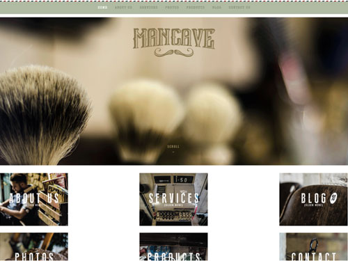 A cool Barbershop and a Website to match!
